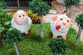 Diseño del jardín estatua animal ovino — Foto de Stock