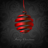 Christmas background with ball — Stock Vector