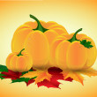 Autumn pumpkin — Stock Vector #32746685