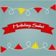Stock Vector: Holiday sale