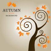 Autumn sample tree — Stock Vector