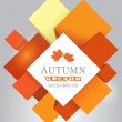 Autumn  abstract vector background — Imagen vectorial