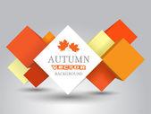 Automne background vector — Vecteur