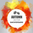 Autumn background abstract — Stock Vector