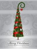 Piel-árbol de navidad — Vector de stock
