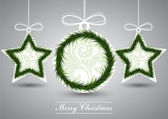 Grau weihnachtskarte — Stockvektor