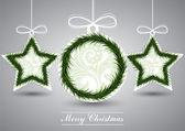 Grey christmas card — Stock Vector