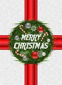 Christmas card vector — Vettoriale Stock