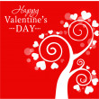 Stock Vector: Valentine's sample tree
