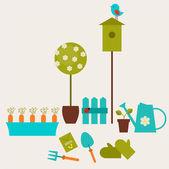 Garden collage — Stock Vector