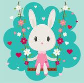 Valentine's Day Bunny — Stockvektor