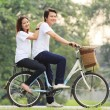 Stock Photo: Cycling in park