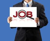 Podnikatel hospodářství hledá práci — Stock fotografie