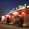 Chinese temple at night — Stock Photo