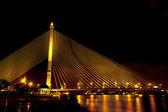 Rama VIII Bridge at night — Stock Photo