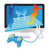 Online-Spiele — Stockfoto