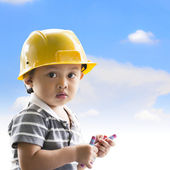 Little architect — Stock Photo