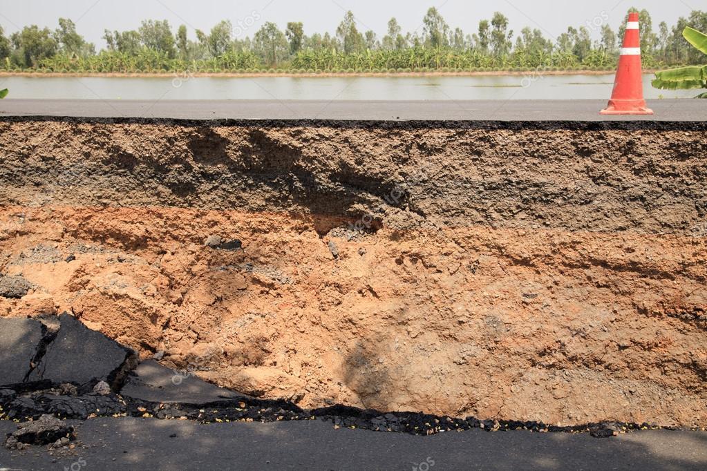 层的裂纹的沥青路面