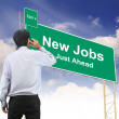 Stock Photo: Road sign concept with the text New Jobs