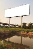 Blank outdoor billboard — Stock Photo