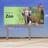 Zoo on outdoor billboard — Stock Photo