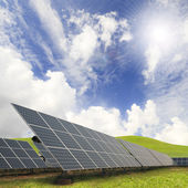 Solar energy plants — Stock Photo