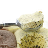 Chocolate chip ice cream — Stock Photo