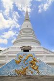 Dragón de oro y la pagoda blanca — Foto de Stock