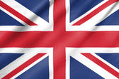 Fabric Flag of United Kingdom — Stock Photo