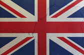 Flag of United Kingdom on the wall — Stock Photo