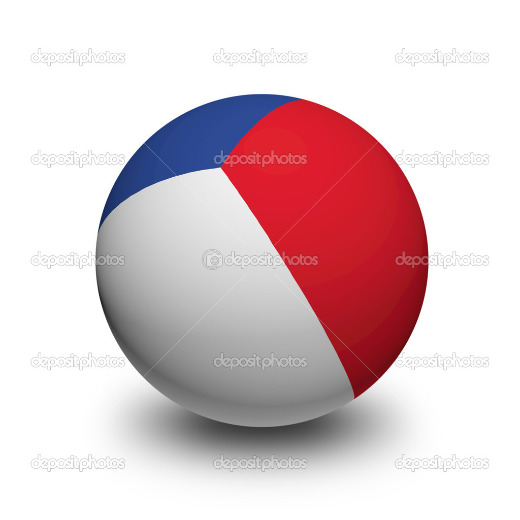 3d 球与法国国旗