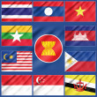 Flag of Asean Economic Community — Stock Photo