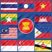 Flag of Asean Economic Community — Stock Photo
