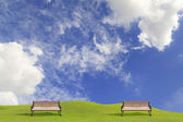 Outdoor benches in the park — Stock Photo