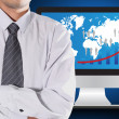 Businessmen and business graphs — Stock Photo #28606095