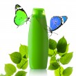 Stock Photo: Plastic bottle and butterfly