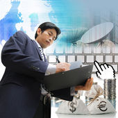 Businessman signing a document — Foto Stock