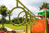 Climbing rings in playground — Stock Photo