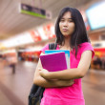 Asian schoolgirl — Stock Photo #35466355