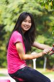 Azjatycka uczennica — Zdjęcie stockowe