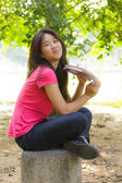 Asyalı liseli kızlar — Stok fotoğraf