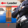 Leader on the sky train station — Stock Photo