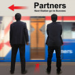 Partners on the sky train station — Stock Photo