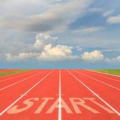 Start on running track — Stock Photo