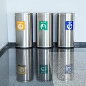 Three bins — Stock Photo
