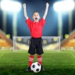 Child soccer player — Stock Photo