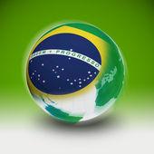 Brazil on the world — Foto Stock