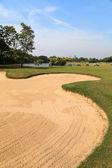 Vacker golfbana — Stockfoto