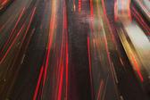 Night traffic light — Stock Photo