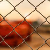 Metalen hek — Stockfoto